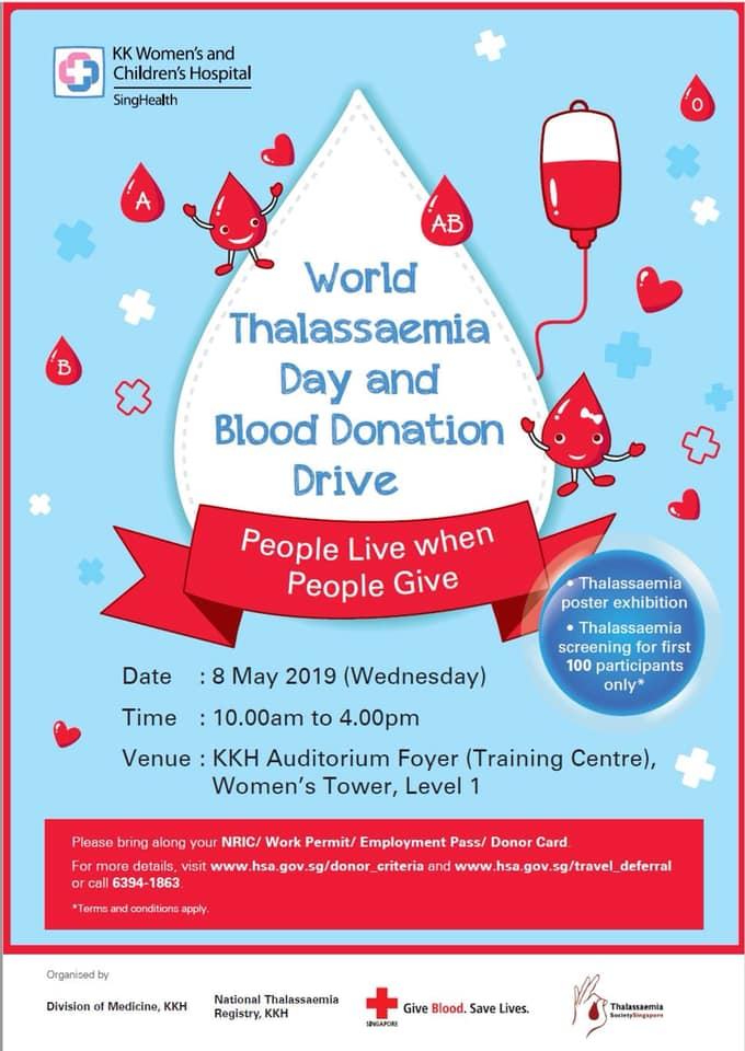 World Thalassaemia Day and Blood Donation Drive