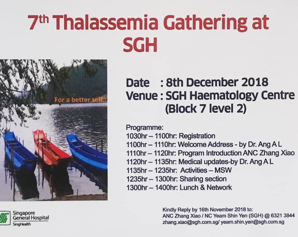 7th Thalassemia Gathering @ SGH