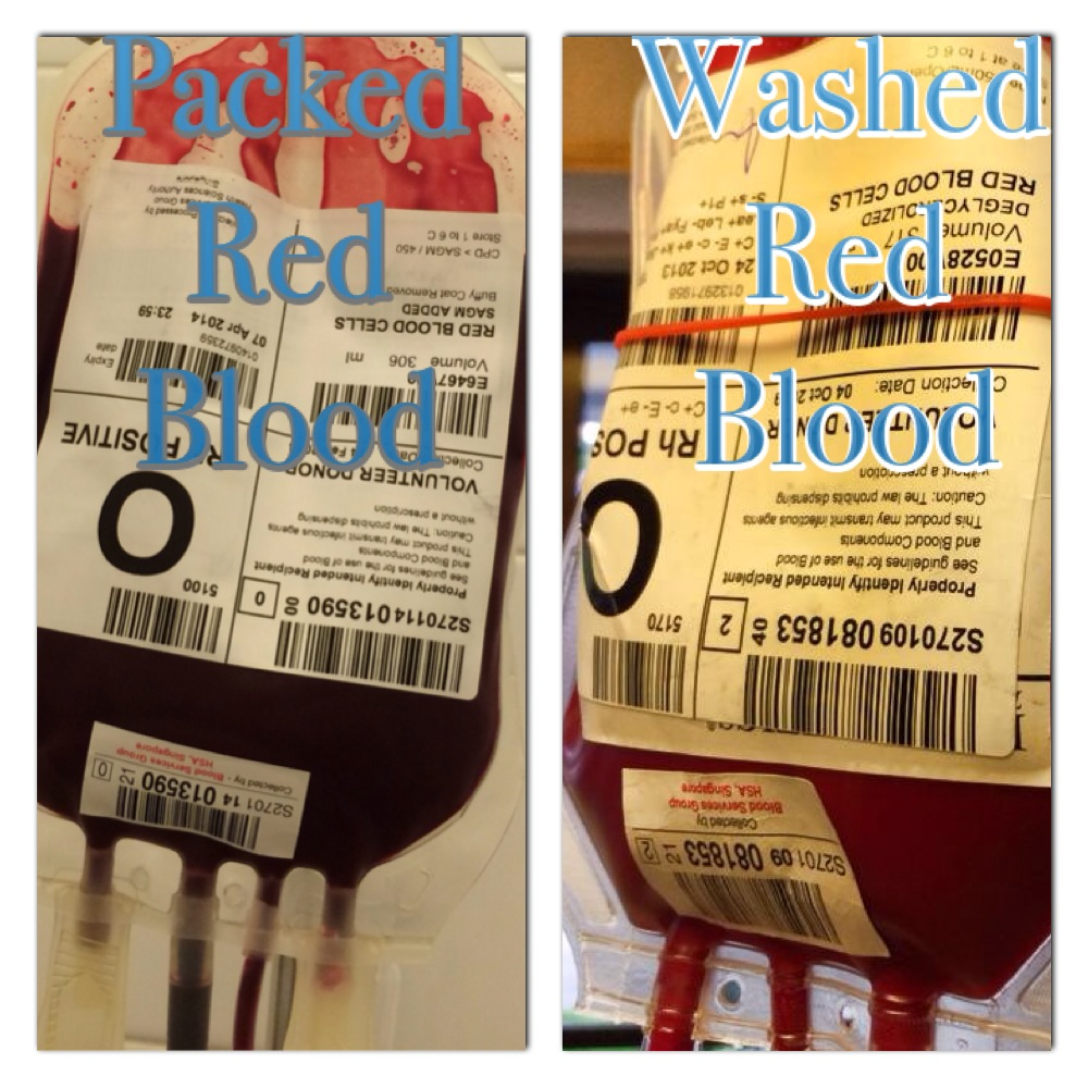 Different Between The Packed Red Blood & Washed Blood!