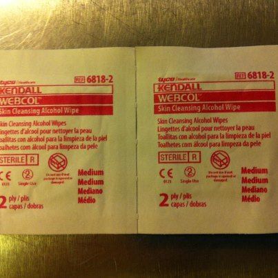 WEBCOL - Skin Cleansing Alcohol Wipes
